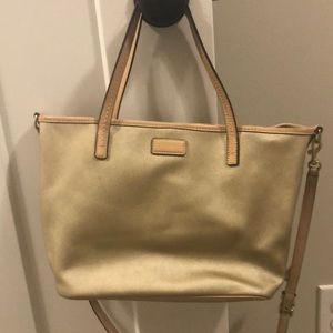 Handbags - Beautiful gold Coach purse